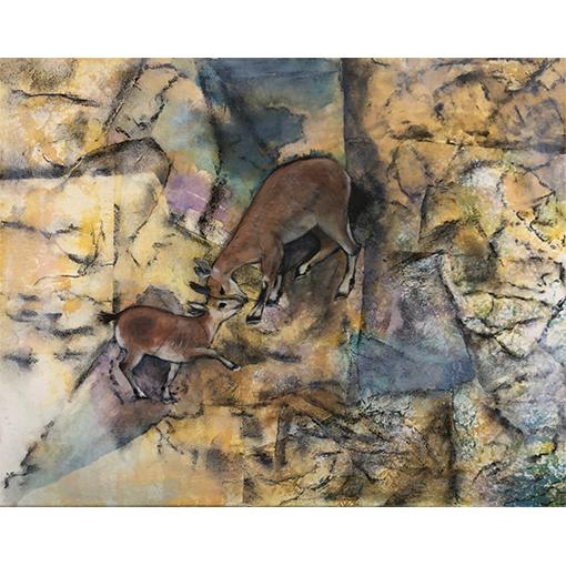 Illustration, peinture et collage, technique de peinture à Vevey par Fabienne Vogeli